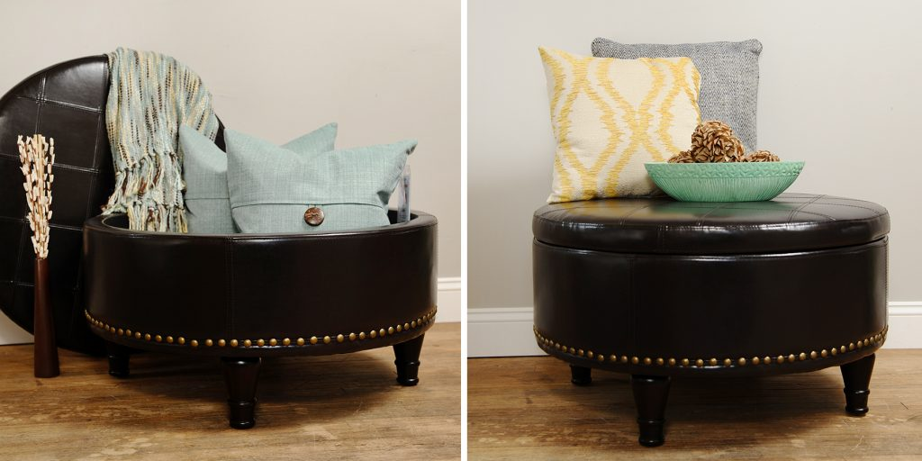 Augusta Storage Ottoman by Office Star. Click on image for more storage solution ideas.